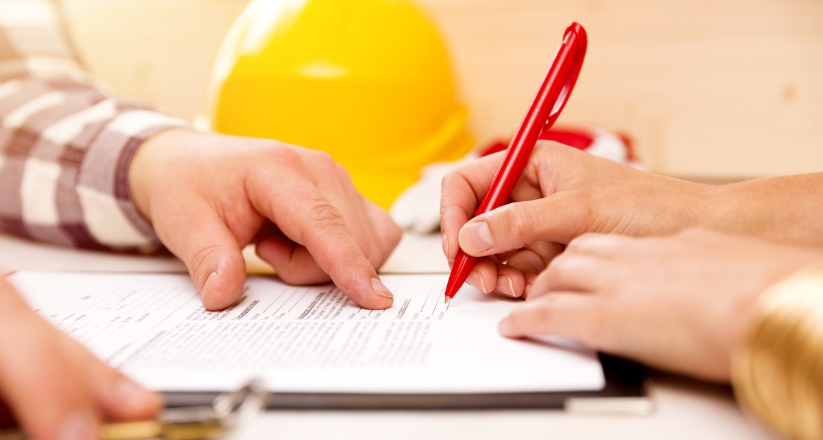 Ask about the written construction contract